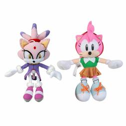 9-13 In. Amy Rose Blaze the Cat Plush Doll Stuffed Animal Pl