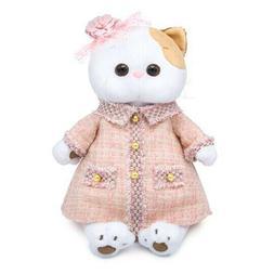 "9.4"" Cat Plush Toy For Girls Stuffed Animal White Scottish F"