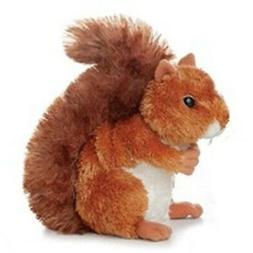 """Aurora Plush Nutsie Brown Squirrel 6.5"""" by Aurora"""