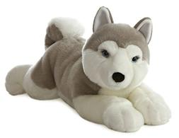 "Aurora World Super Flopsie Yukon Husky Dog Plush, 27"""
