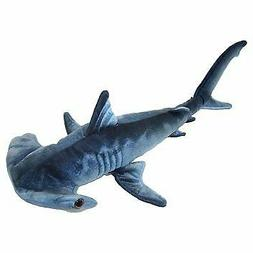 "Blue Printed Hammerhead Shark Plush Toy 24"" L"
