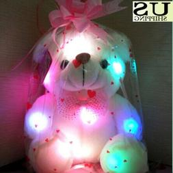 Christmas Gift Creative Light Up LED Teddy Bear Stuffed Anim