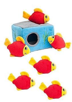 Large Dog Toys, Zippypaws Aquarium Burrow Tough Squeaky Cute