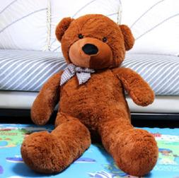 Giant Teddy Bear Huge Animal Toy Dark Brown Birthday Valenti