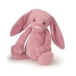 "Jellycat Bashful Tulip Pink Bunny, Small - 7"""