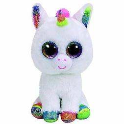 Kids Pixy White Unicorn Ty Beanie Boos Regular Soft Plush St