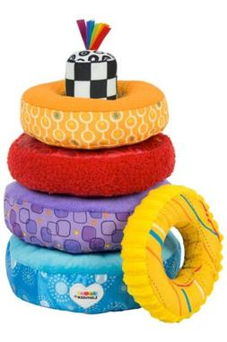 LAMAZE - Rainbow Stacking Rings Toy, Help Baby Develop Fine
