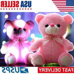 LED Inductive Teddy Bear Stuffed Animals Plush Toy Teddy Be