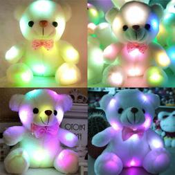 Lovely Christmas Gift Light Up LED Teddy Bear Stuffed Animal