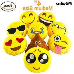 Pawliss Emoji Mini Stuffed Plush Toy Emoticon Throw Pillow C