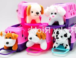 Pet Shop Toy Dog + Carrying Case Kids Cute Gift Puppy Stuffe
