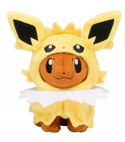 """Pokemon Eevee With Jolteon Hood Plush Stuffed Animal Toy 8"""""""