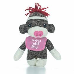 Sock Monkey Baby Plush Stuffed Animals Kids Toys Cutest Baby