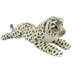 TAGLN Stuffed Animals Toys Cheetah Brown Leopard Plush Pillo