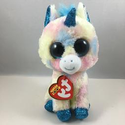 """TY Beanie Boos 6"""" BLITZ the Unicorn Plush Stuffed Animal Toy"""