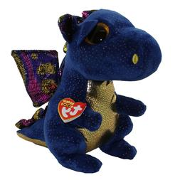 "TY Beanie Boos 6"" SAFFIRE Blue Dragon Plush Stuffed Animal T"