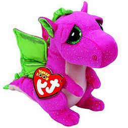 "Ty Beanie Babies 6""Darla the Pink Dragon Plush Stuffed Anima"