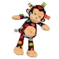 Ultra-Soft And Adorable Taggies Polka-Dot Monkey Plush Stuff