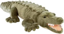 Wild Republic Jumbo Crocodile Giant Stuffed Animal Plush Toy