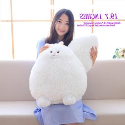 Winsterch Giant Fluffy Cat Stuffed Animal Plush Toy White,19