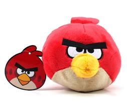 """Official Furyu Angry Birds - 5"""" Red Male Bird Plush Doll To"""
