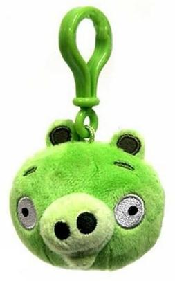 Angry Birds Plush Backpack Clip - Green Pig, New, Commonweal