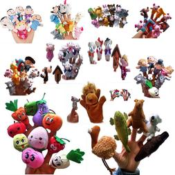 10//16pc Cartoon Finger Puppets Cloth Plush Doll Baby Educational Hand Animal Toy