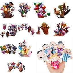 Animal Finger Puppets Plush Cloth Doll Baby Educational Hand