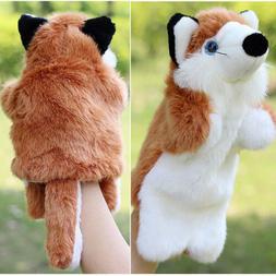 Animal Hand Puppets Children Family Soft Plush Doll Baby Edu