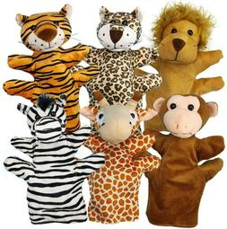 animal hand puppets soft plush premium interaction