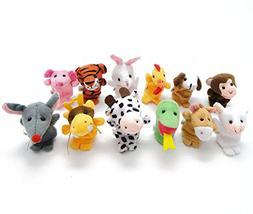 Baby Animals Finger Puppet Cute Plush Toys Dolls Set,12pcs A