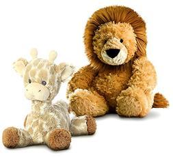 "Aurora Tubbie Wubbies Lion 12"" and Loppy Giraffe 11"" Plush"