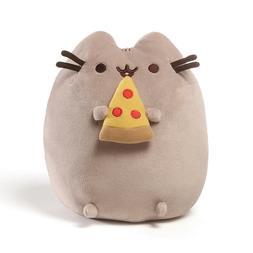 GUND Authentic Pusheen Pizza Gray Tabby Cat Plush Toy Boy Gi