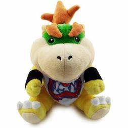 "Baby Bowser Jr 7"" Plush Super Mario Bros. Little Buddy Toy S"