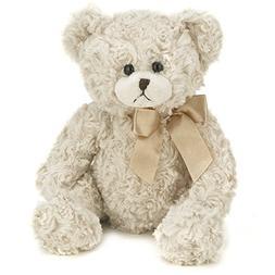 Bearington Baby Huggles Plush Stuffed Animal Teddy Bear, Whi