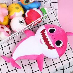 Baby Kids Plush Shark Singing English Song Toy Cartoon Music