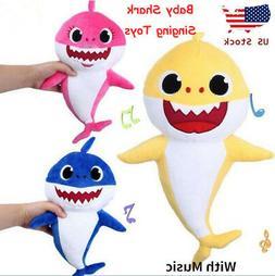 baby shark plush singing english song toy