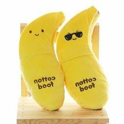 Banana Cushion Food Plush Toy Doll : Sunglass