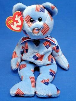 Ty Beanie Babies ~ UNION the PATRIOTIC USA AMERICAN BEAR ~ P