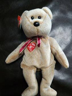 Ty Beanie Baby 1999 SIGNATURE BEAR  Plush Toy RARE NEW RETIR
