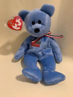 Ty Beanie Baby ~ AMERICA  Patriotic Bear ~ 9/11 Red Cross Pl