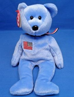 Ty Beanie Baby ~ AMERICA  Patriotic Bear ~ 9/11 ~ Red Cross