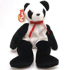 Ty Beanie Baby - Fortune the Panda Bear  1997-Plush Toy-Reti
