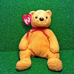 Ty Beanie Baby Poopsie The Bear Retired Teddy Plush Toy MWMT