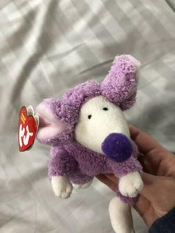 beanie baby ratzo the purple rat retired