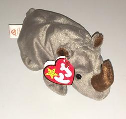 TY Beanie Baby Spike Rhino New Plush Rhinoceros Toy Retired