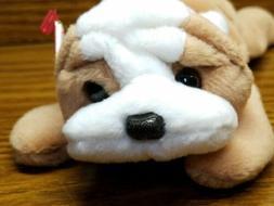Ty Beanie Baby Wrinkles The Bulldog Retired 1996 PVC Plush T