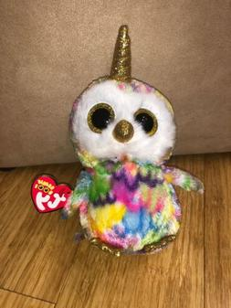 Ty Beanie Boo's - 6'' Enchanted The owl with  Horned  Stuffe