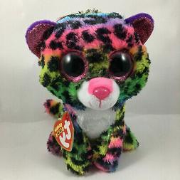 "Ty Beanie Boos 6"" DOTTY the Leopard Glitter Eyes Stuffed Ani"