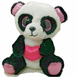 Ty Beanie Boos Cutie Pie The Panda with Heart Plush mint tag